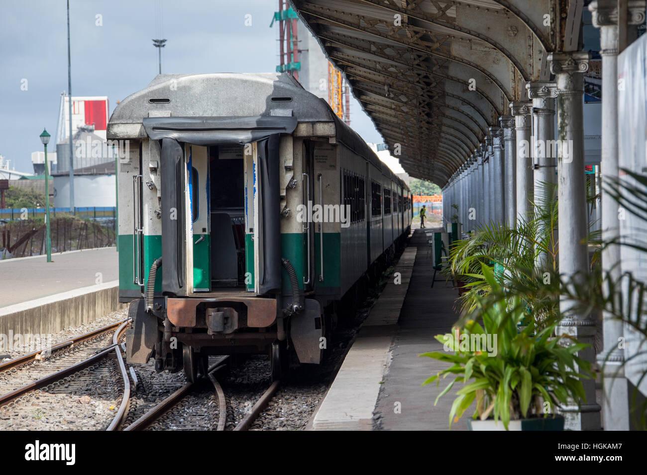 Estación de Ferrocarril, Maputo, Mozambique Imagen De Stock