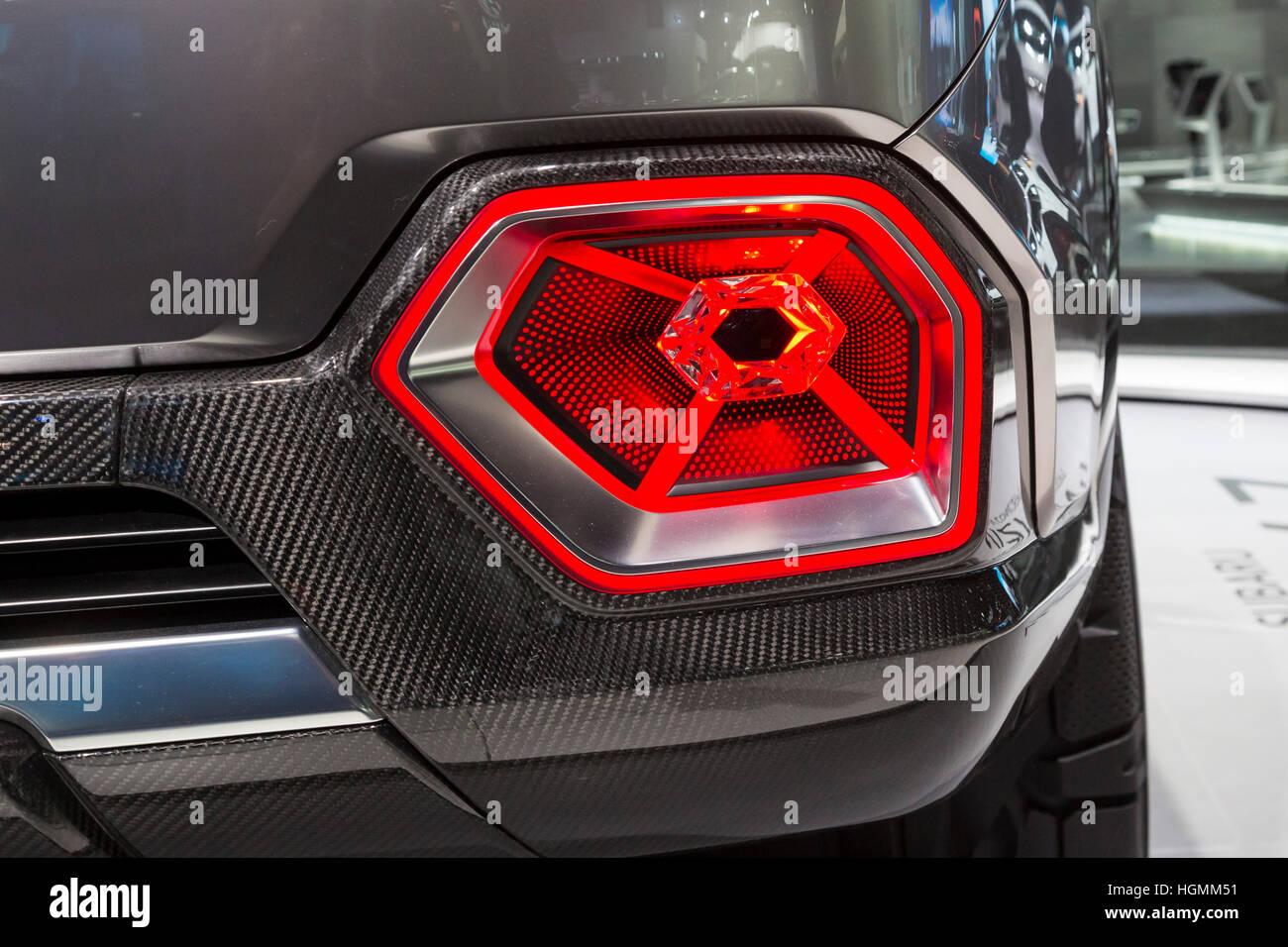 Detroit, Michigan, USA - 10 de enero de 2017 - El Subaru Viziv-7 Concepto SUV en exhibición en el North American Imagen De Stock