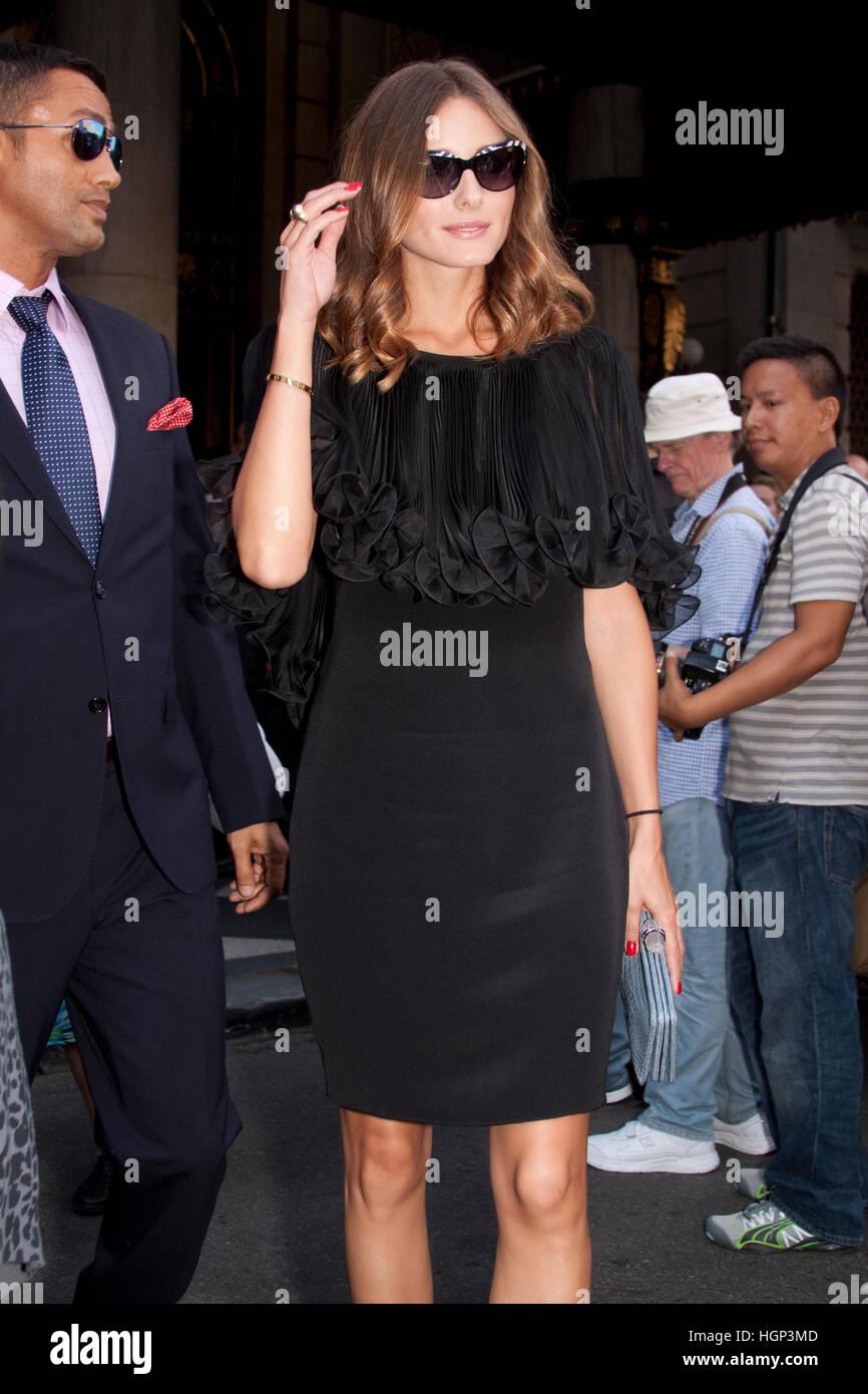 Marchesa Olivia Palermo después del desfile de moda durante la semana de la moda de Nueva York Foto de stock