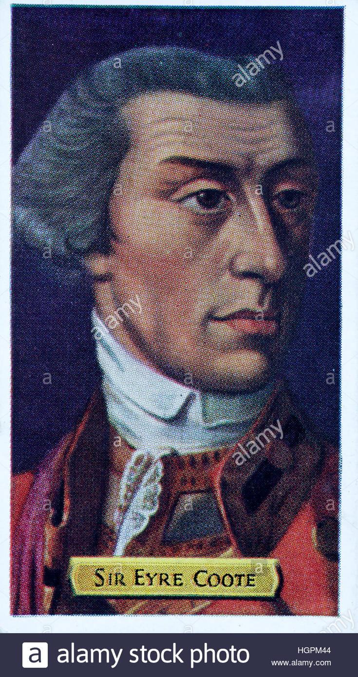 El teniente general, el Honorable Sir Eyre Coote en 1726 - 1783, el político británico y soldado Imagen De Stock