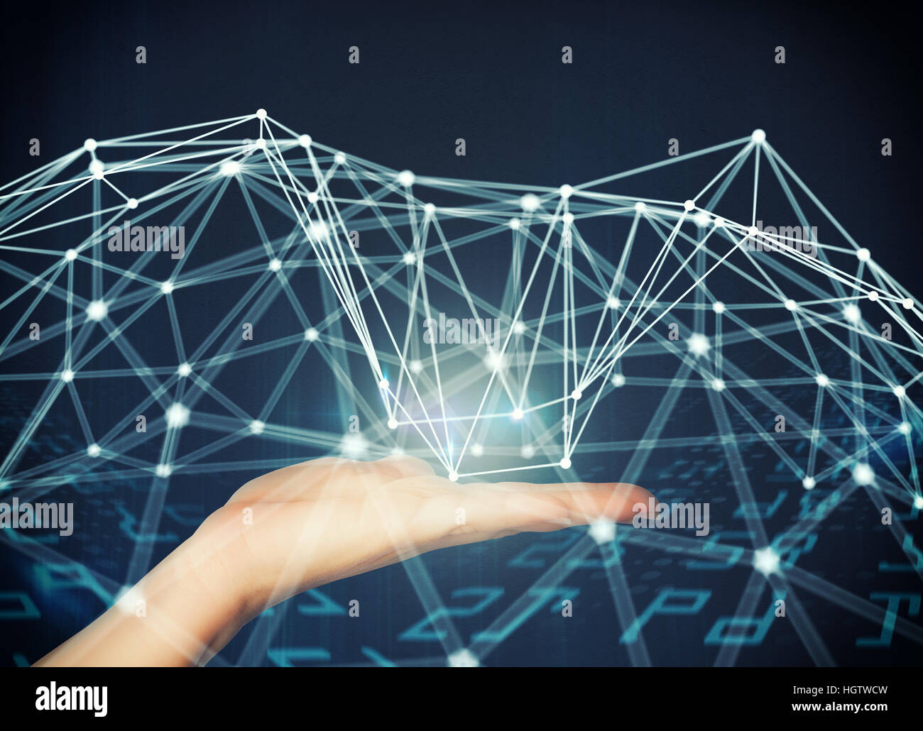 Sistema de interconexión de red Imagen De Stock