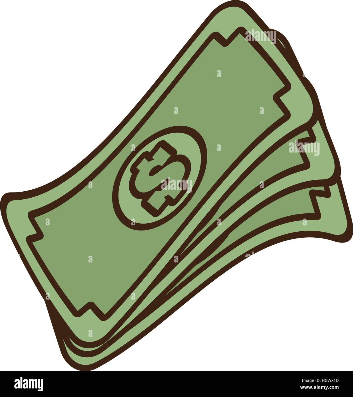 Pila De Dibujos Animados Dinero Efectivo Billetes De Dólar
