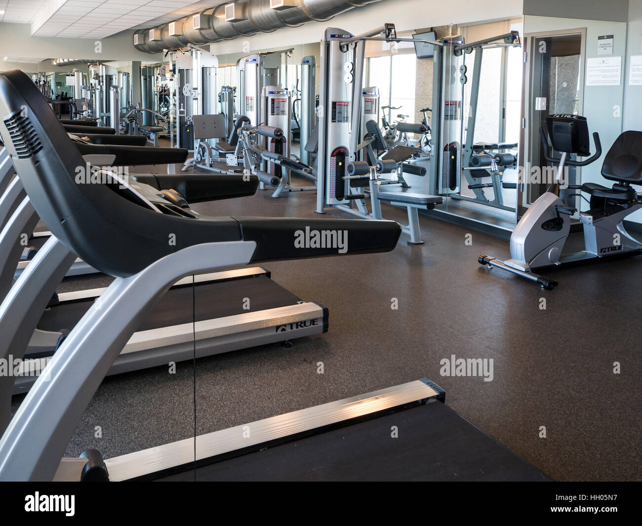 Gimnasio gimnasio, Talking Stick Resort, Scottsdale, Arizona. Imagen De Stock