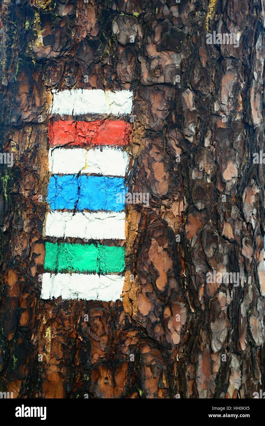 Marca Turística en la república checa en checo eden Imagen De Stock