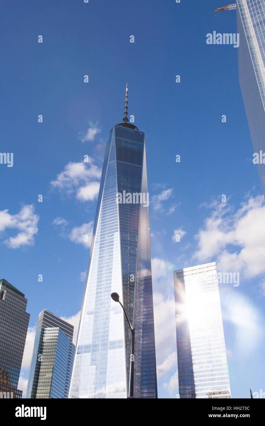El One World Trade Center (Freedom Tower), Lower Manhattan, Ciudad de Nueva York, Estados Unidos de América. Imagen De Stock