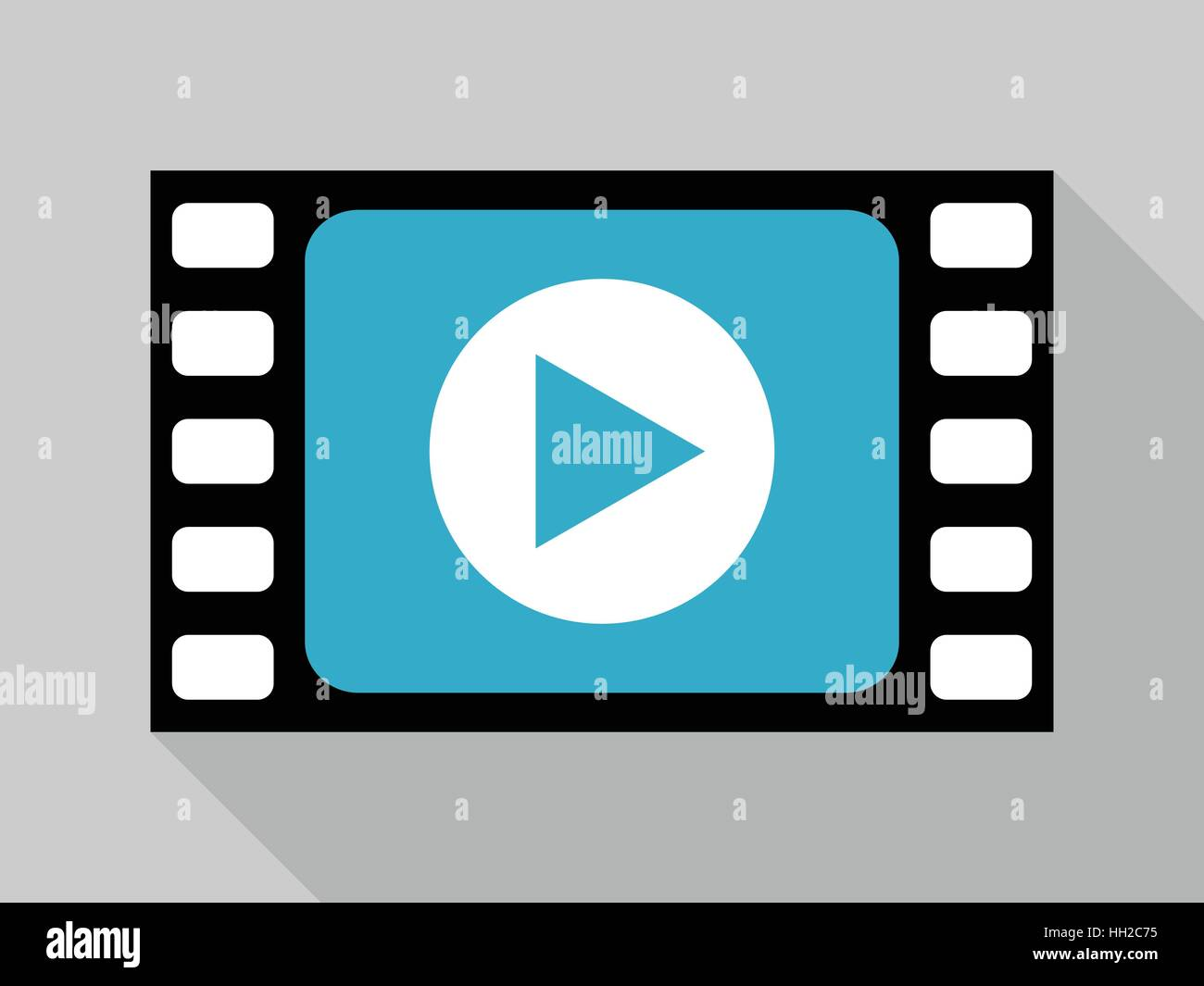 cb917525b2 Diseño plano reproducir vídeo de dibujos animados icono de vector ...