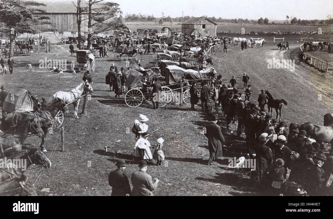 Escena en un país ocupado del hipódromo. Imagen De Stock