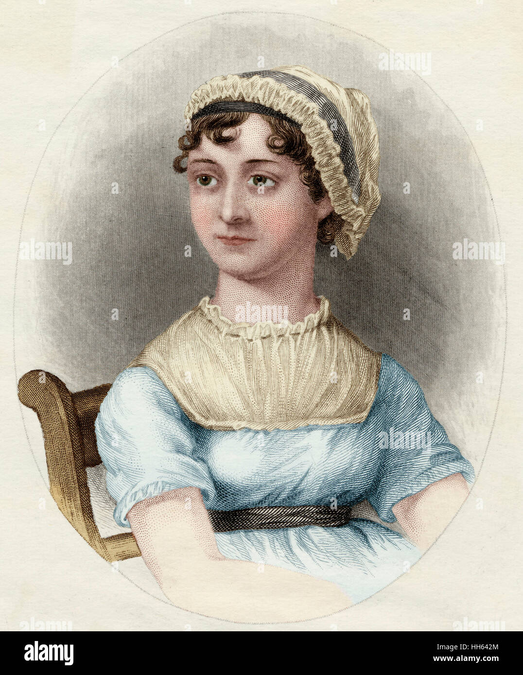 Jane Austen (1775-1817), novelista inglés. Imagen De Stock