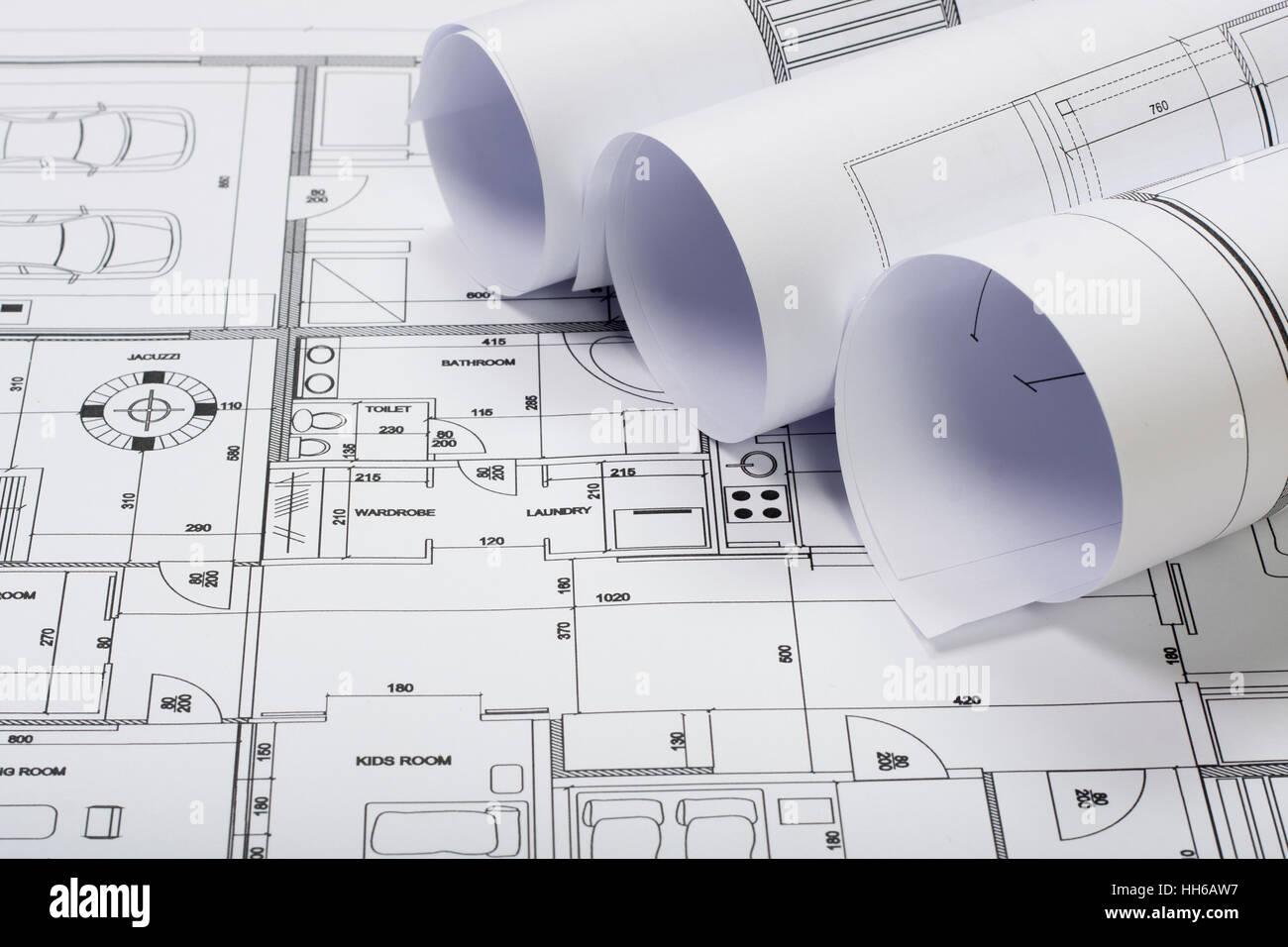 Planos arquitectónicos Imagen De Stock
