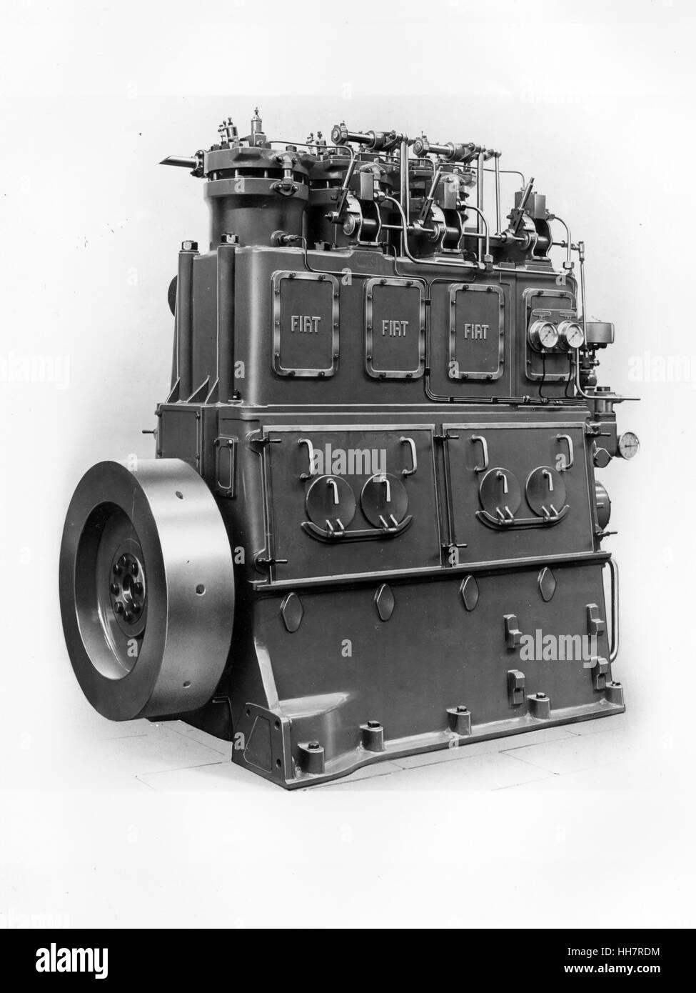1930 - 40. Fiat - Ansaldo máquina. Los componentes de los motores. Imagen De Stock