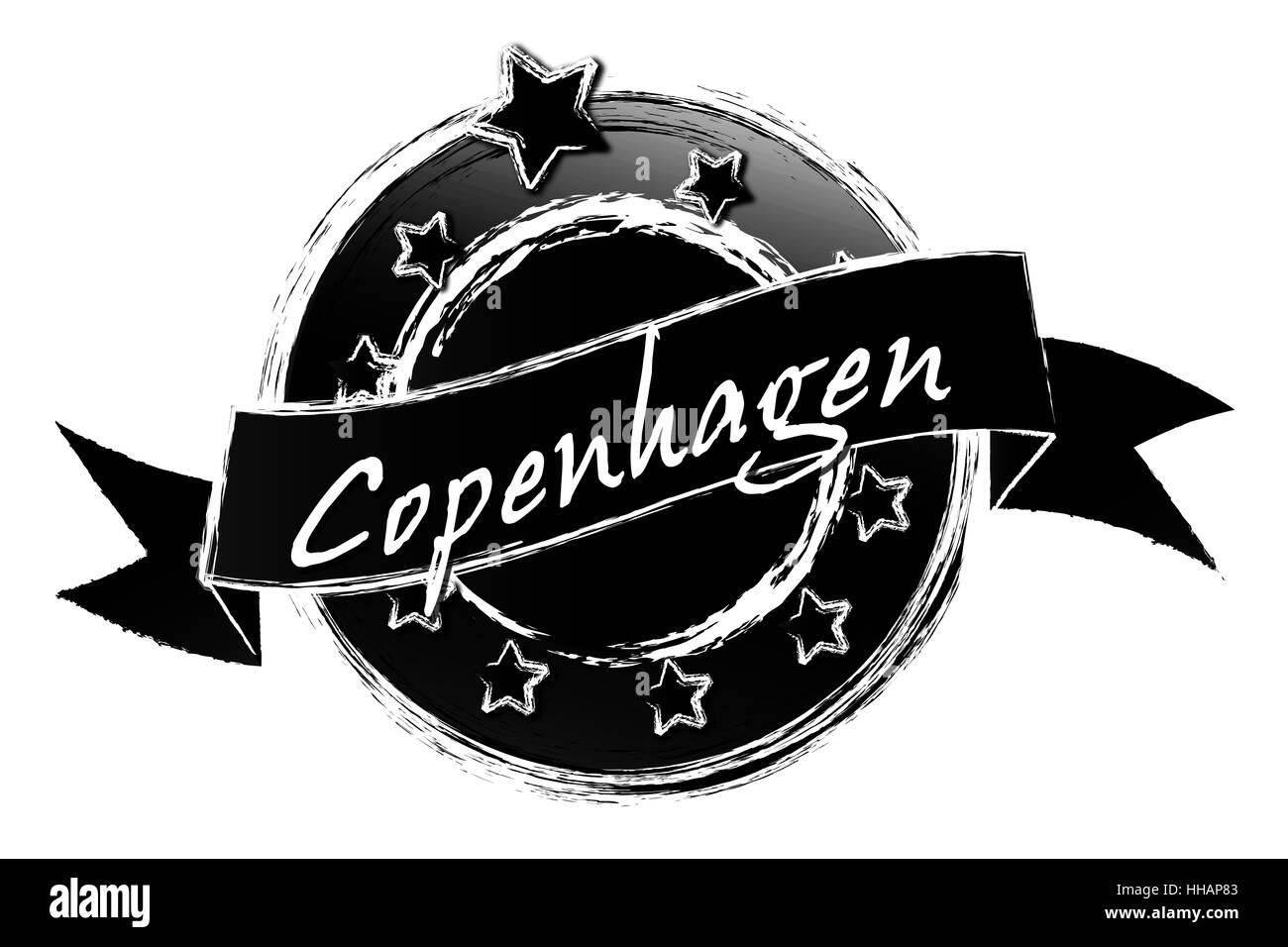 Royal grunge - Copenhague Foto de stock