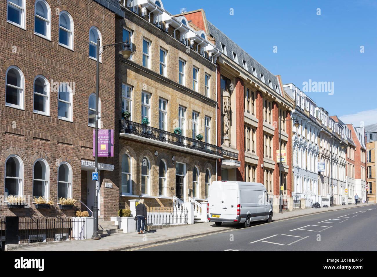 Edificios de época, Hoja Street, Windsor, Berkshire, Inglaterra, Reino Unido Imagen De Stock