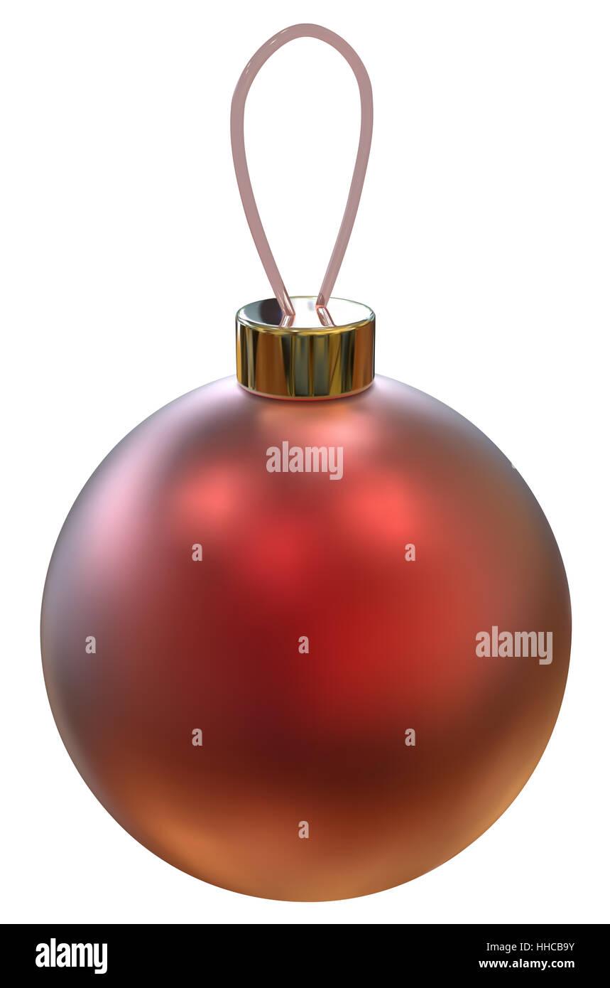 Clásico bola Navidad roja aislada. Vector EPS10. Imagen De Stock