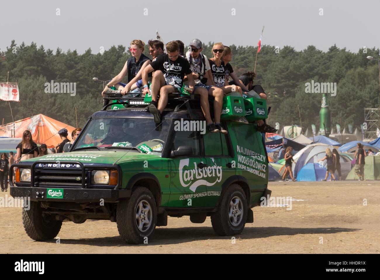 Kostrzyn, Polonia el 1 de agosto de 2013 Festival de Woodstock en Polonia. El festival está organizado por Imagen De Stock