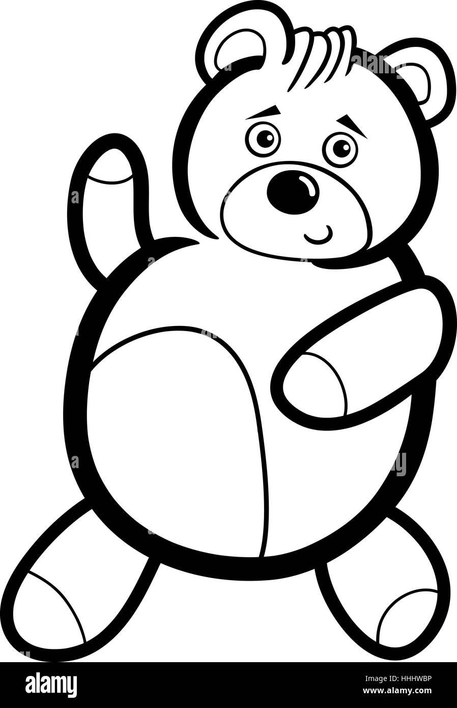 Ilustración Del Personaje De Dibujos Animados Lindo Oso De Peluche