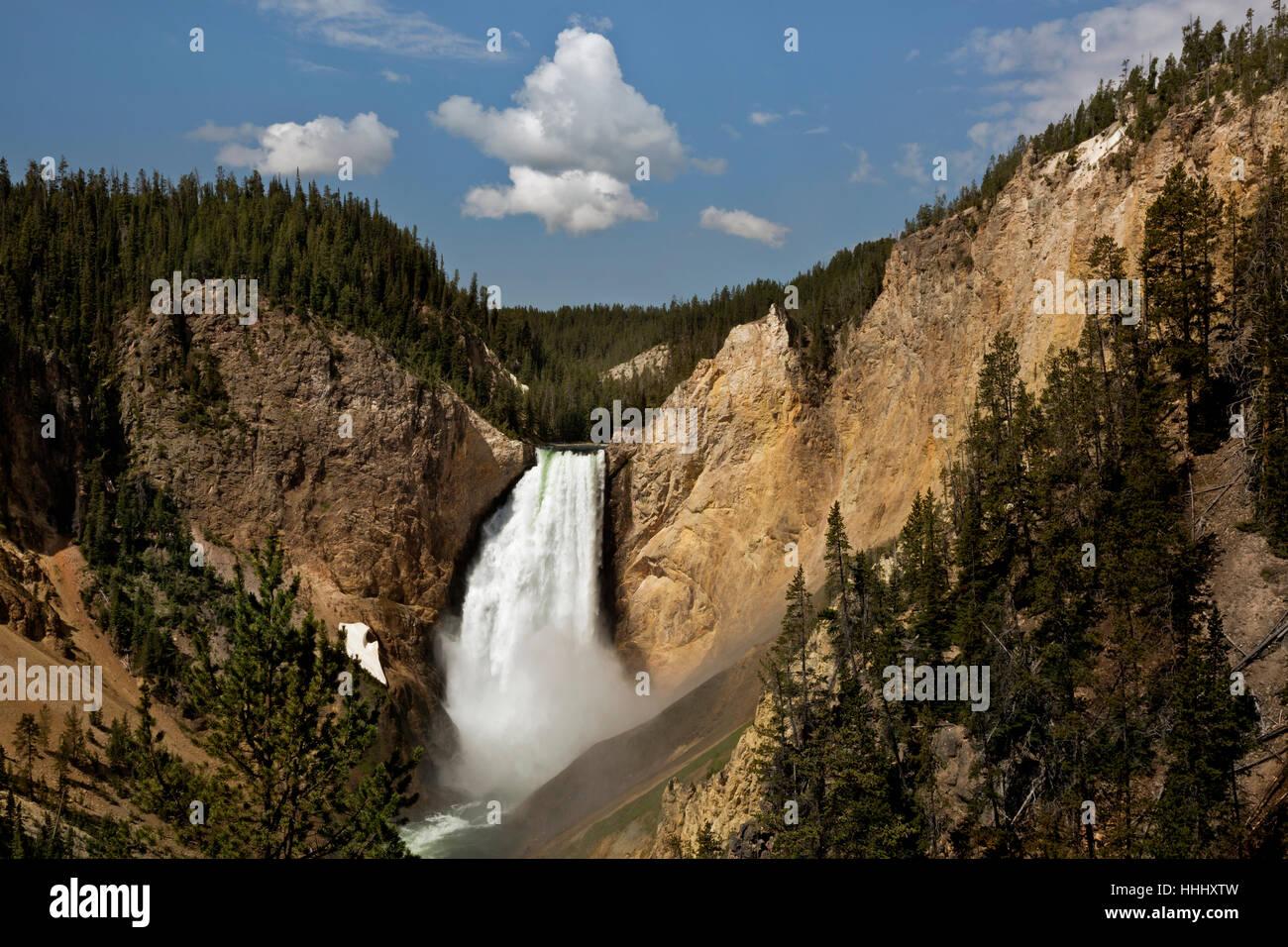 WY02099-00...WASHINGTON - Lower Falls en el Gran Cañón del río Yellowstone en el Parque Nacional Imagen De Stock