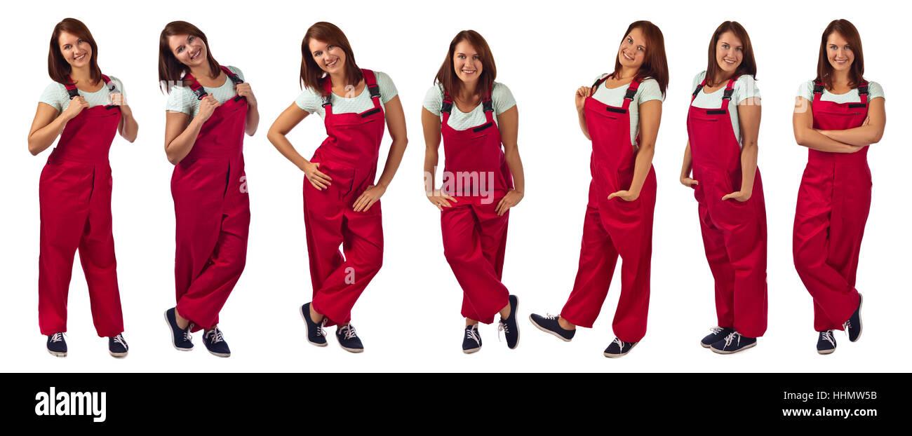 44a5175623 Woman In Jumpsuit Imágenes De Stock   Woman In Jumpsuit Fotos De ...