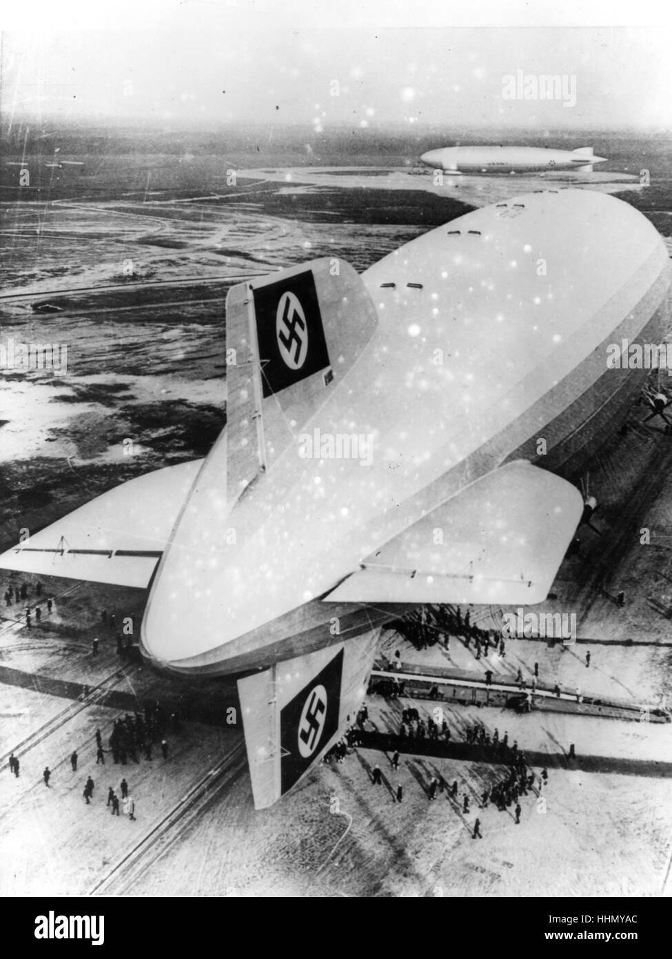 Zeppelin Hindenburg, 1937 Imagen De Stock