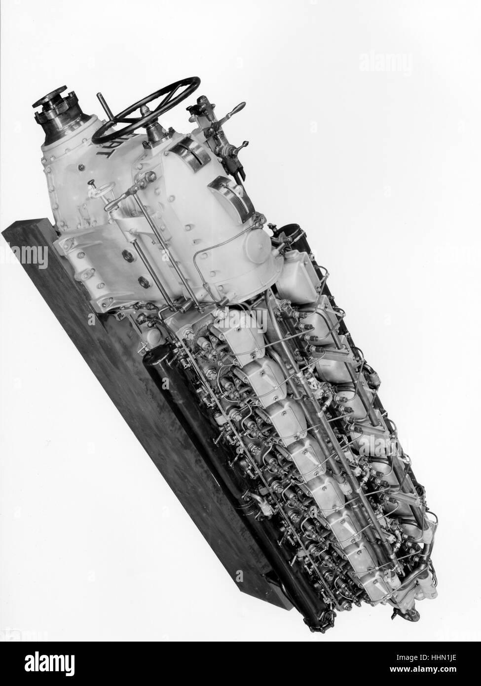 1930 - 40. Fiat - Ansaldo máquina. Los componentes de los motores. Foto de stock