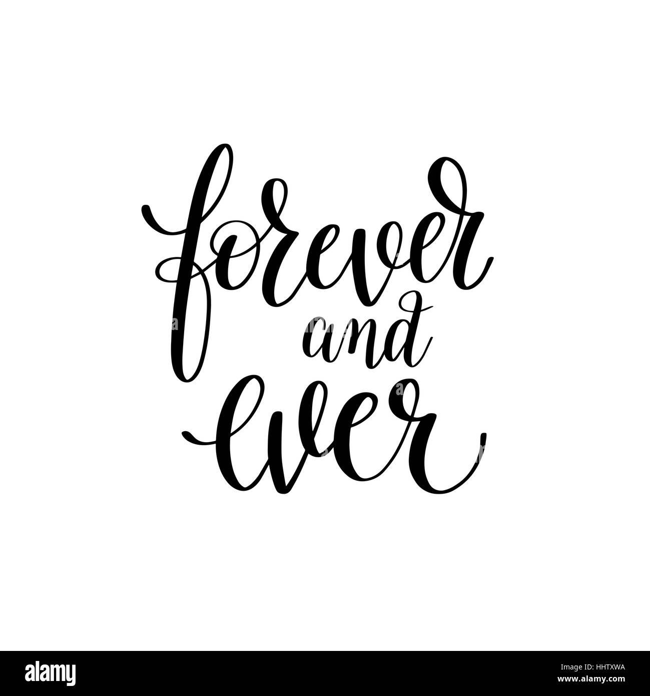 Por Siempre Y Para Siempre En Blanco Y Negro Una Frase Letras