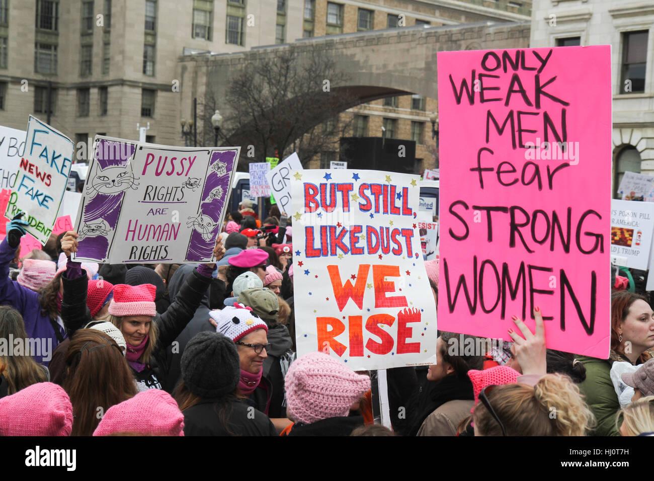 Washington, DC, Estados Unidos. 21 ene, 2017. La mujer de marzo en Washington. Crédito: Susan pease/Alamy Live Imagen De Stock