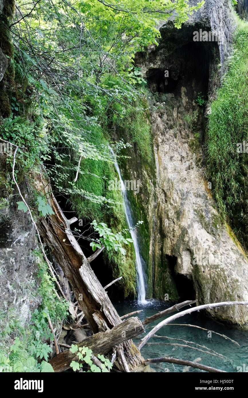 Parque nacional, cascada, Croacia, movimiento, aplazamiento, movimiento, movimiento, Foto de stock