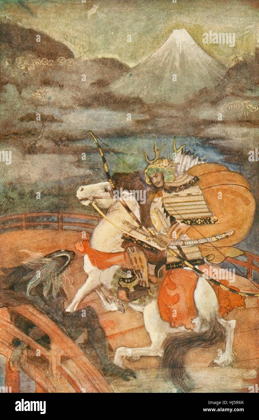 Totaro y Samebito. Folclore japonés Imagen De Stock