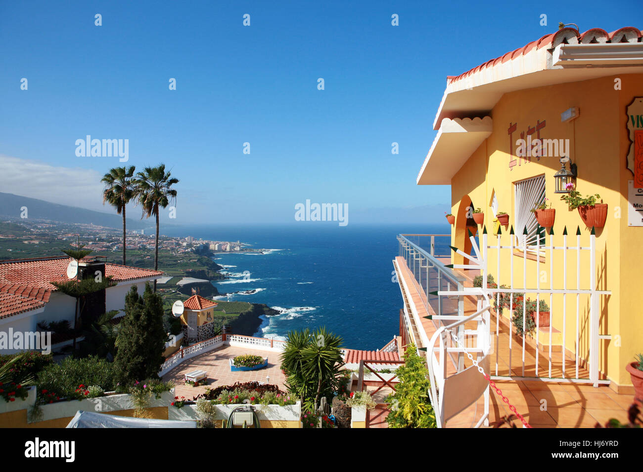 Vista desde la vista paraiso en puerto de la cruz Imagen De Stock