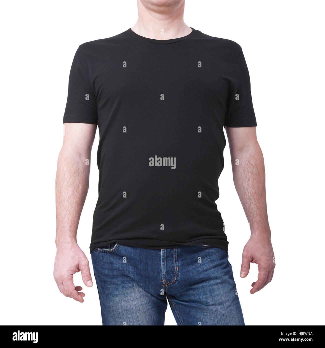 d48ab9835 Tshirt Diseño y concepto de personas -cerca de Hombres camiseta en blanco.  Para el modelo de diseño de plantilla. Vista frontal
