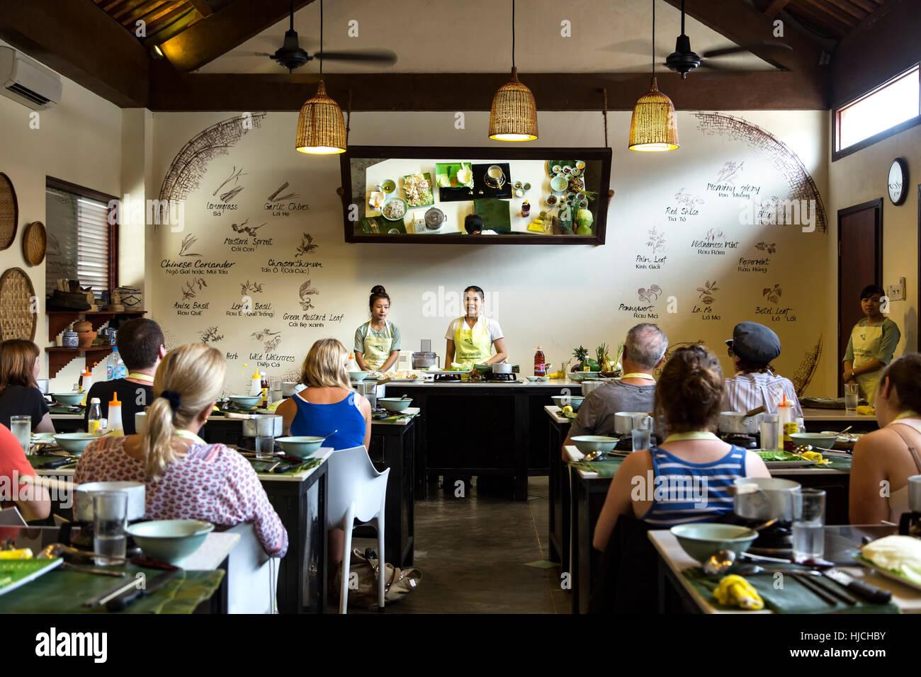 Aula, Miss Vy La Academia De Cocina De Mercado, Restaurante, Hoi An, Vietnam