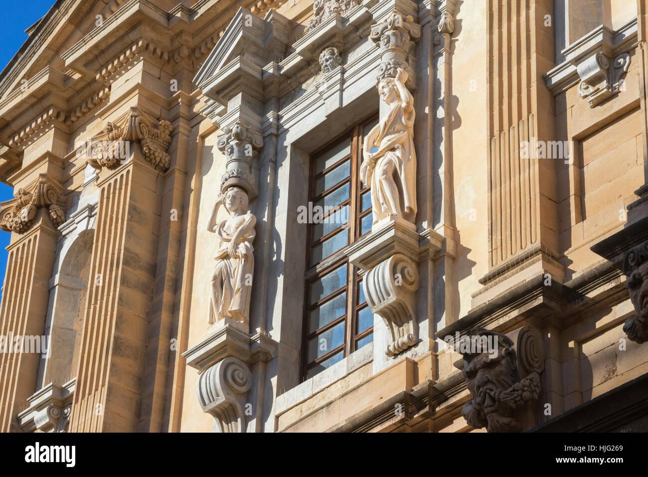 Iglesia de los Jesuitas, Trapani, Sicilia, Italia. Imagen De Stock