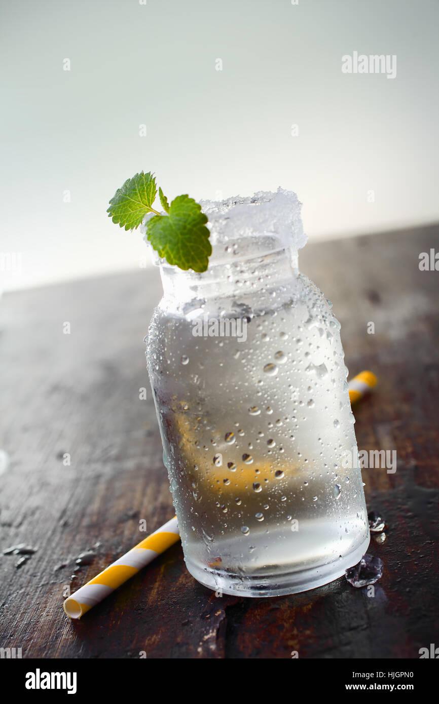 Restaurante, bar, taberna, vidrio, cáliz, secadora, beber, beber, baberos, Foto de stock