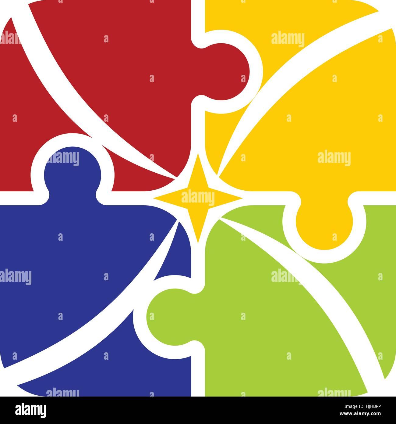 La sinergia del trabajo en equipo el éxito Imagen De Stock