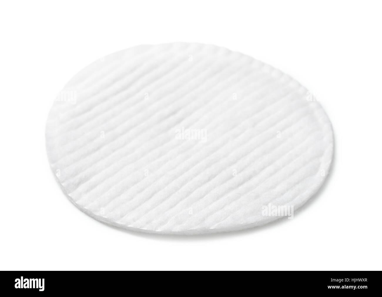 Solo cosméticos algodón aislado en blanco Imagen De Stock