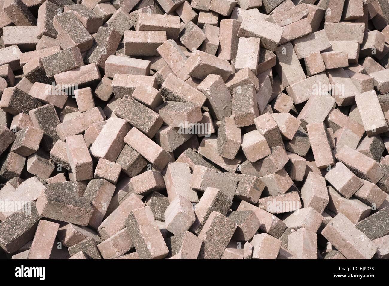 Stone, patrón similar, arcilla, grapar, calles, carreteras, ladrillos, telón de fondo, Imagen De Stock