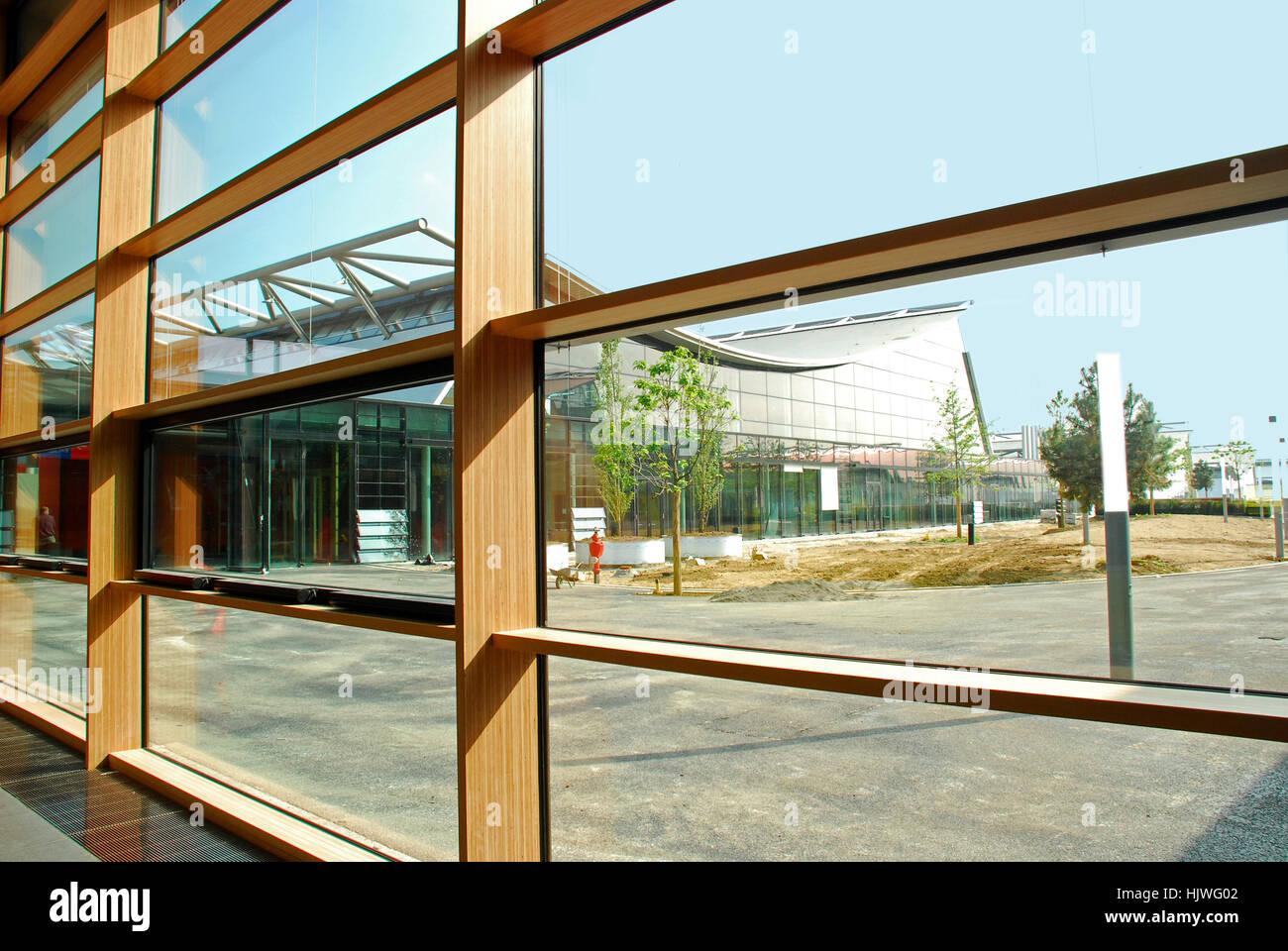 Nuevos edificios de exposiciones Feria Stuttgart Baden Wuertttemberg Alemania Imagen De Stock