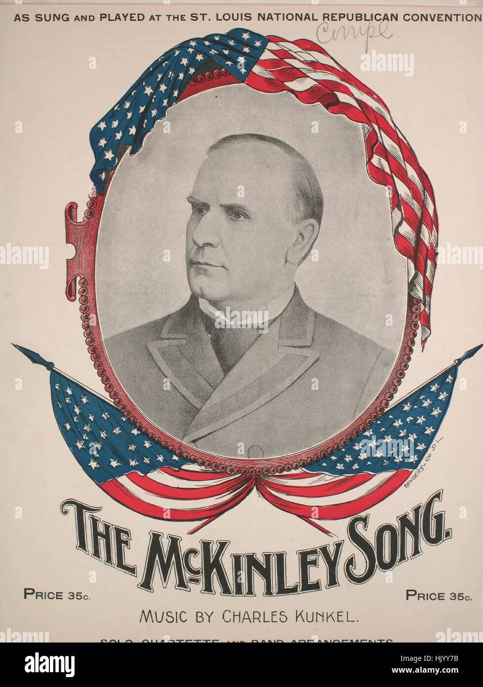 """Imagen de cubierta de partituras de la canción """"El Canto"""" McKinley, con notas de autoría original Imagen De Stock"""