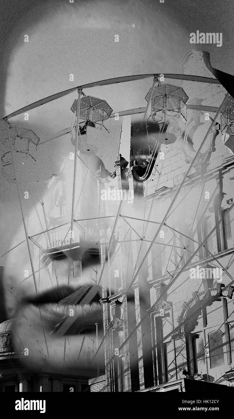 Fotografía de doble exposición Imagen De Stock