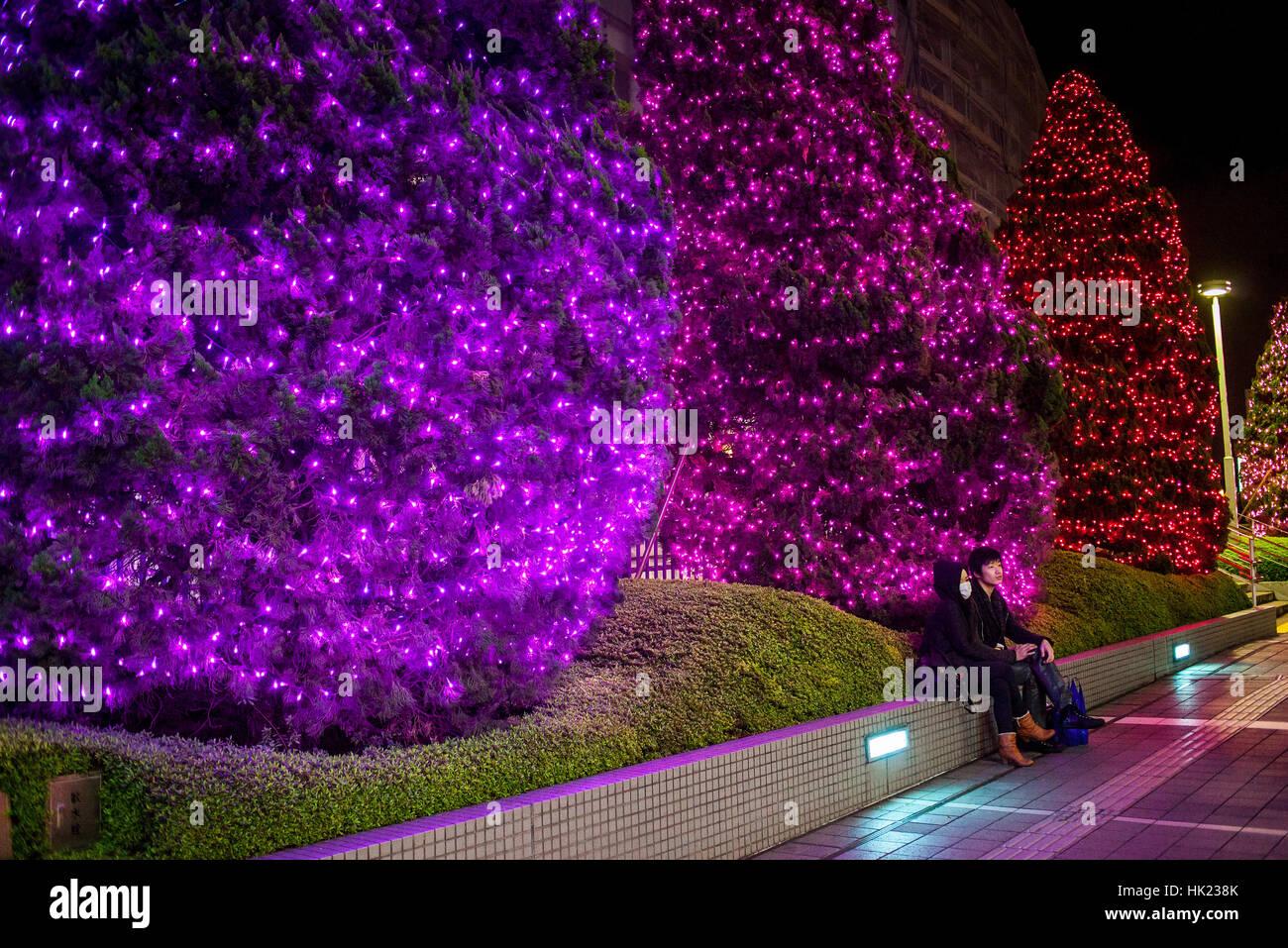 Las Luces De Navidad En El Sur De Terraza Shinjuku Tokio