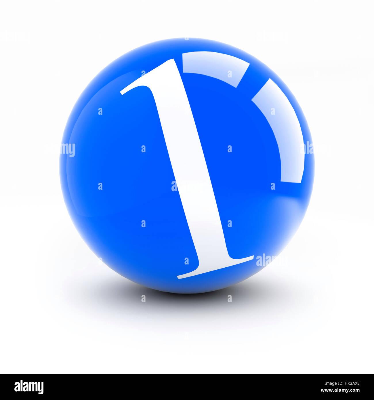El número 1 de las bolas de color rojo y brillante con reflejos aislado en  blanco 942d8bcc5204b