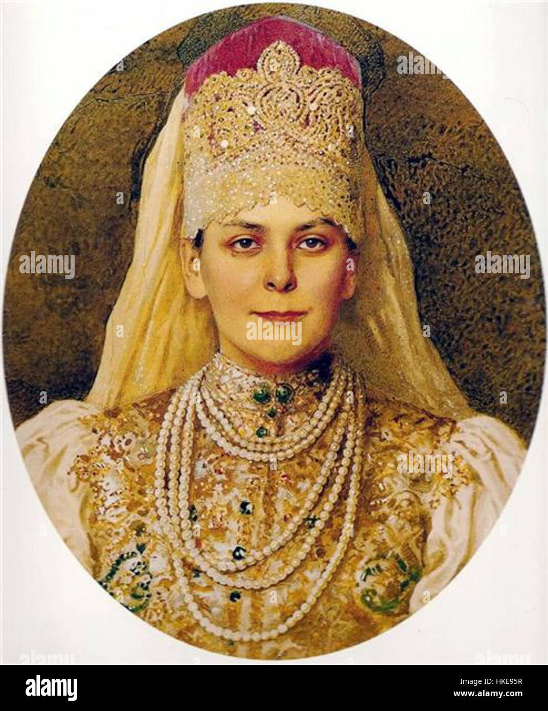 73ebc24dc Olga Paley en ruso vestido Foto & Imagen De Stock: 132465587 - Alamy