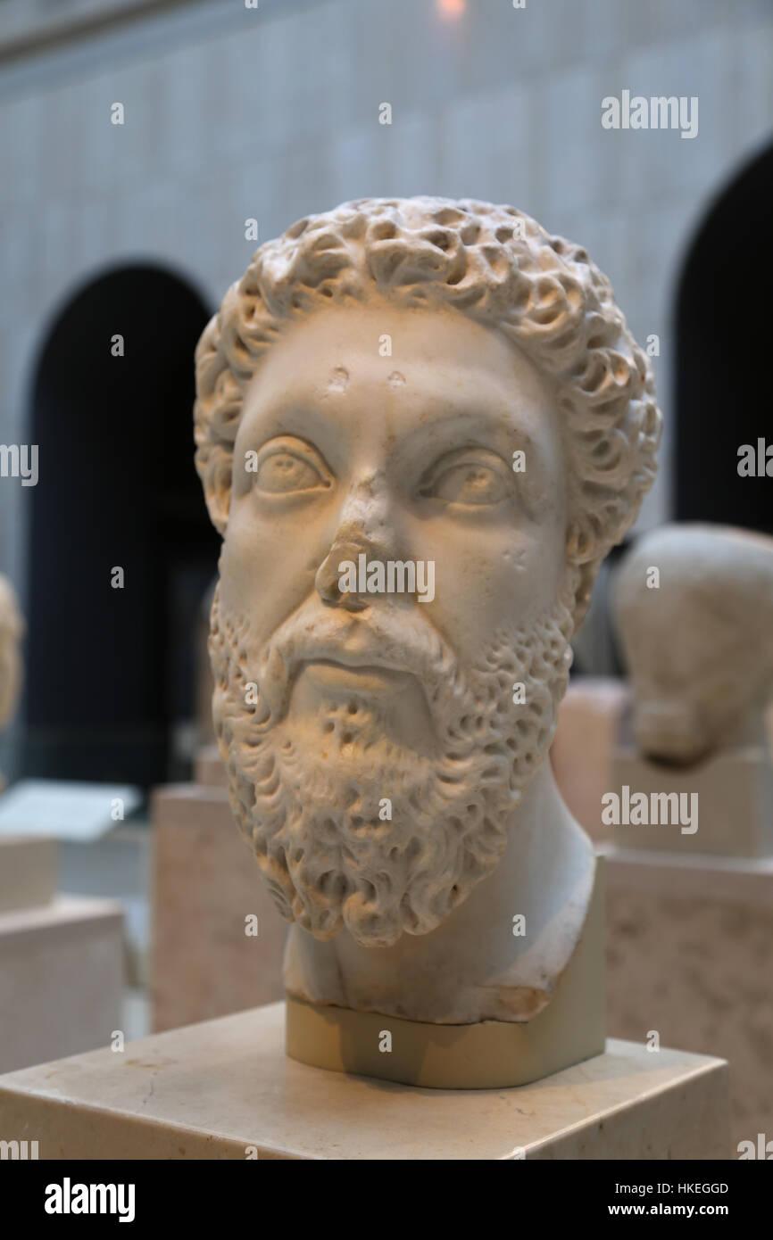 Marco Aurelio (121-180), emperador romano del 161-180. Cinco Buenos emperadores. Dynasty Antonine. Mármol, Imagen De Stock