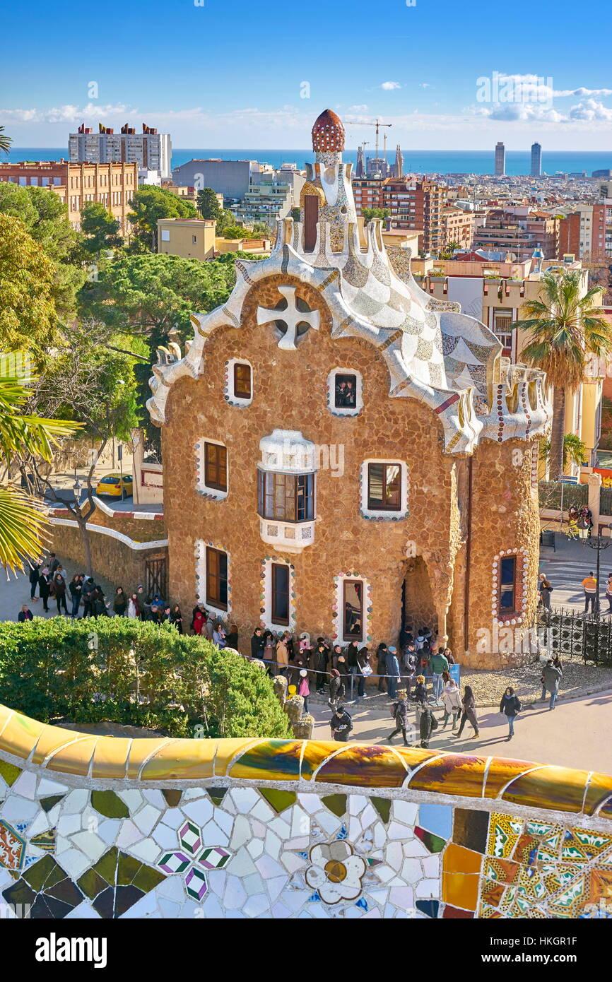 Parque Güell, Barcelona, España Imagen De Stock