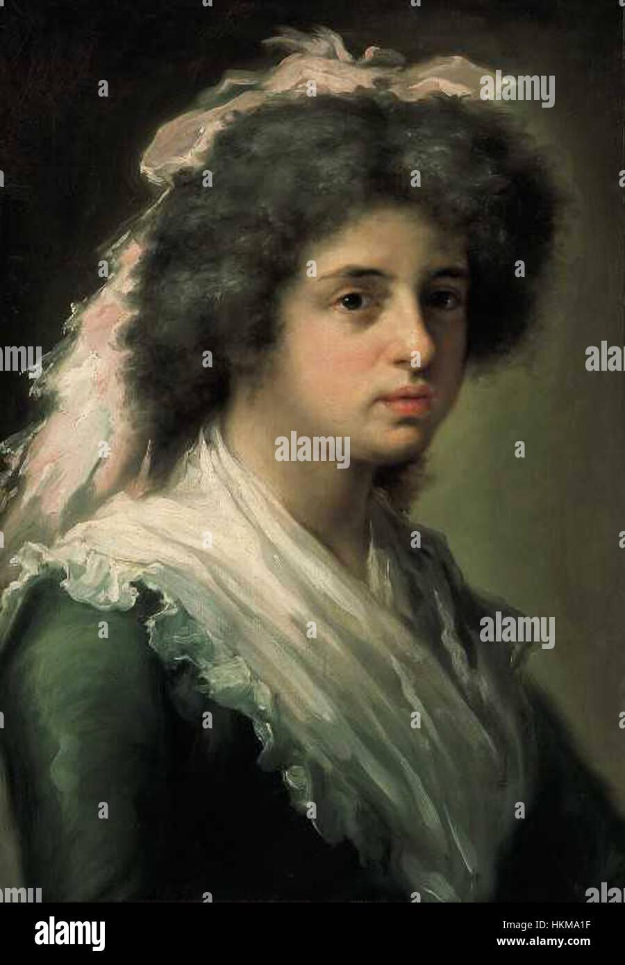 Retrato de Feliciana Bayeu, hija del pintor Imagen De Stock