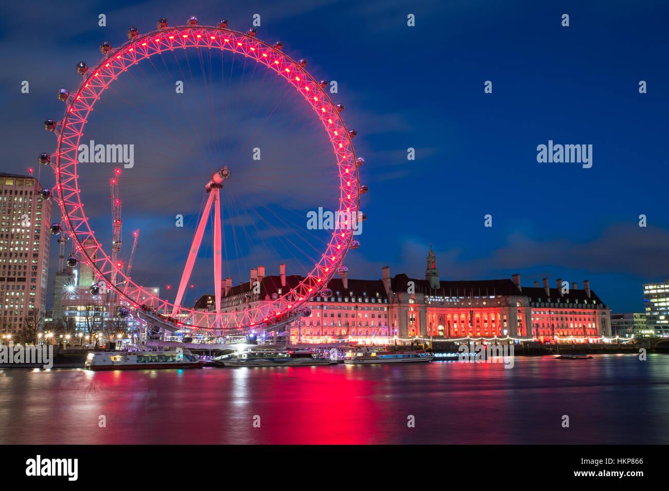 El London Eye Imagen De Stock