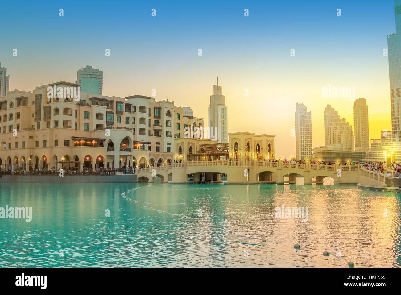 Lago Burj Dubai Foto de stock