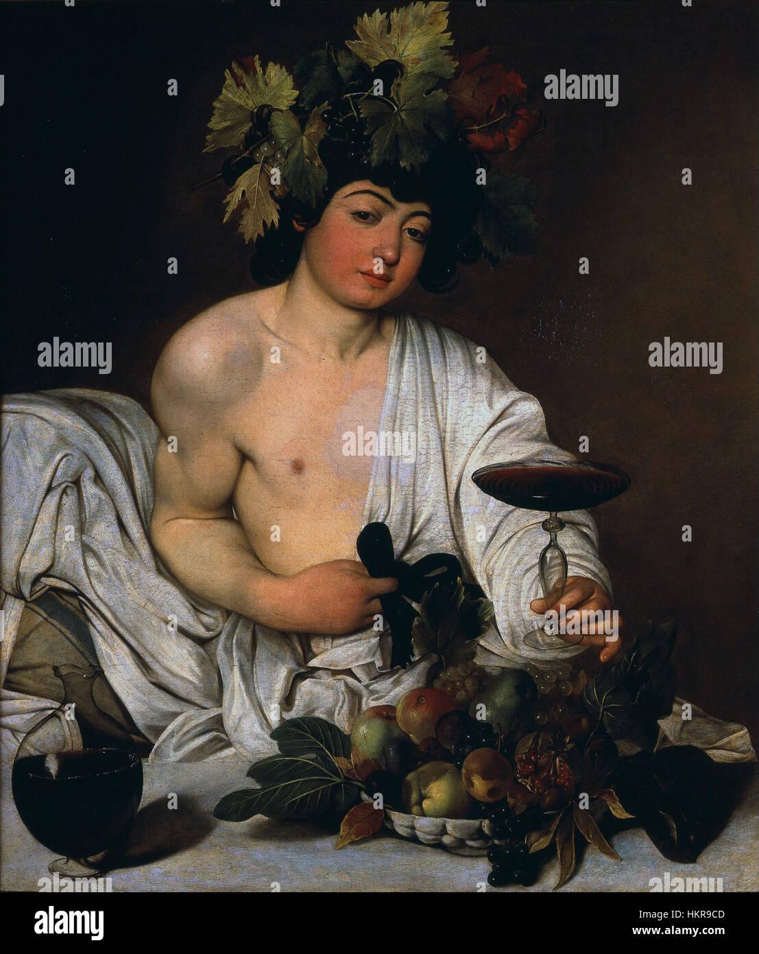Caravaggio - Bacco adolescente - Proyecto de arte de Google Imagen De Stock
