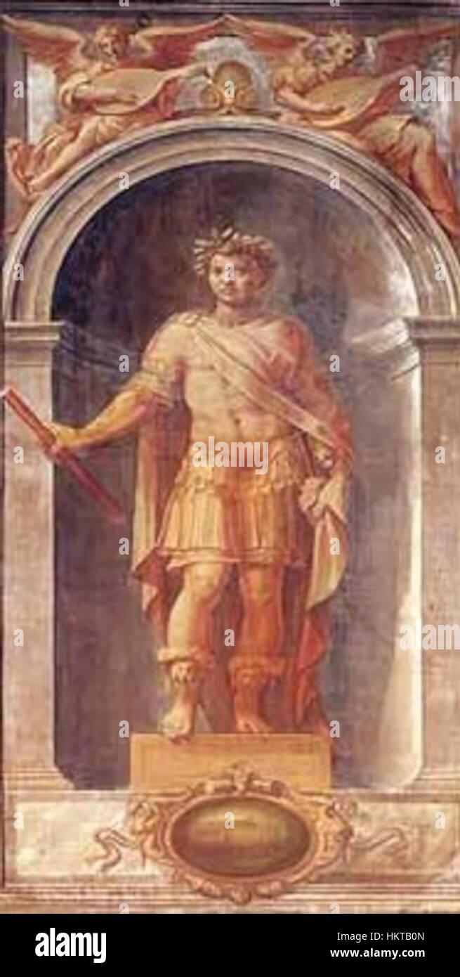 Ercole Procaccini Puertas organo emperador romano 1560 Catedral de Parma Imagen De Stock