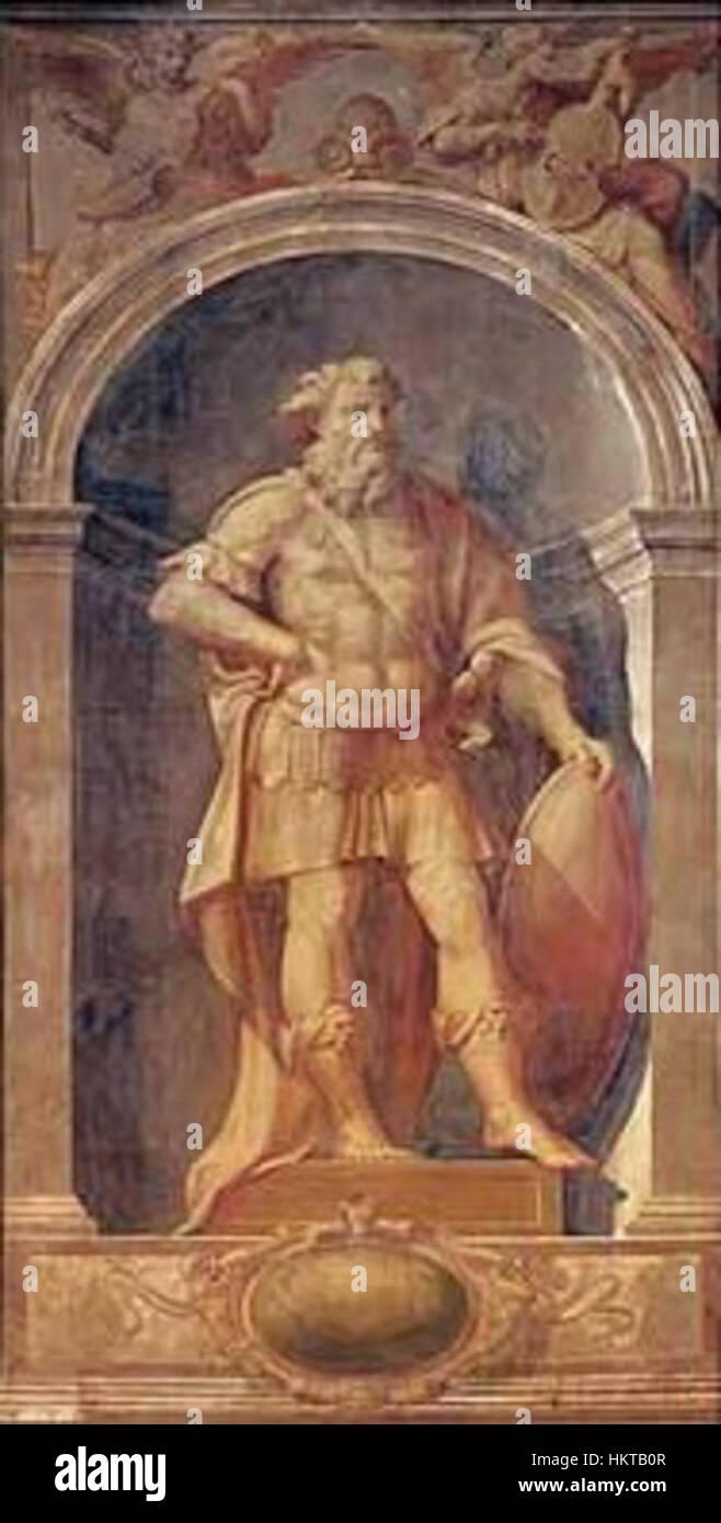 Ercole Procaccini Puertas organo guerrero 1560 Catedral de Parma Imagen De Stock