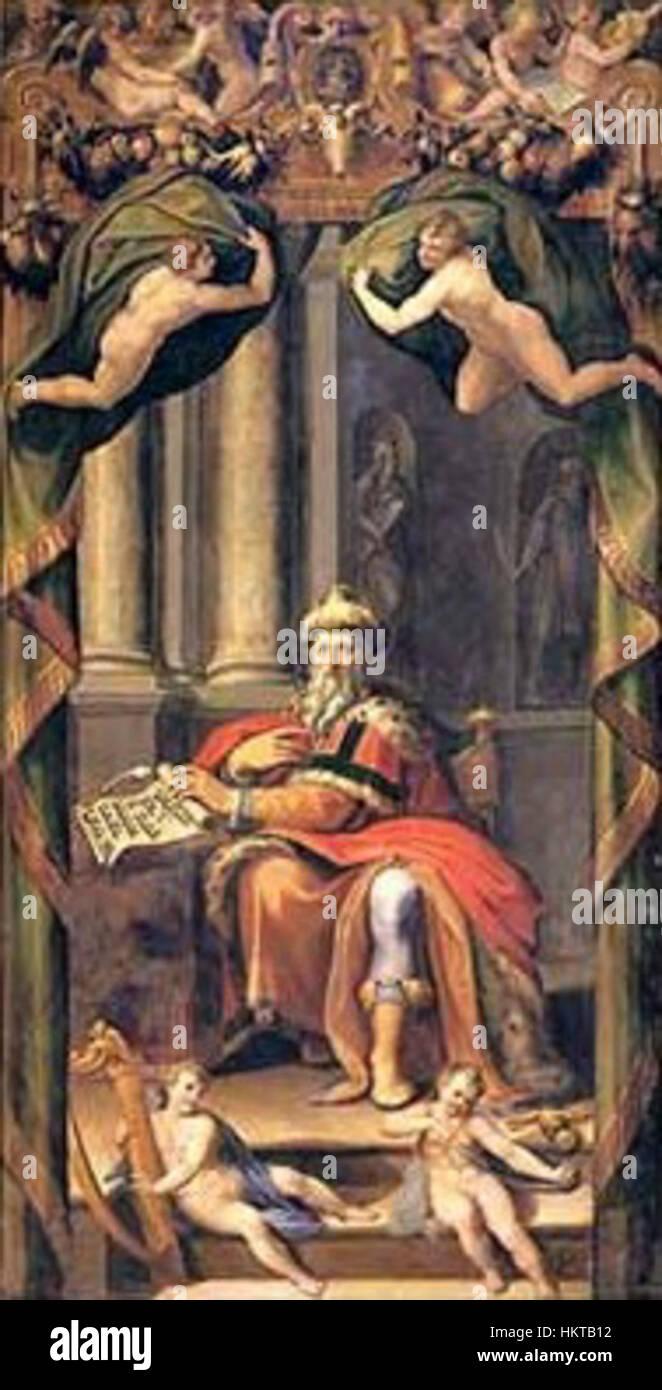 Ercole Procaccini Puertas organo Rey David 1560 Catedral de Parma Imagen De Stock